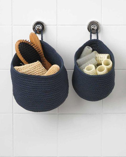 cestas de almacenaje de pared para el bano