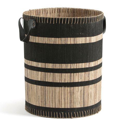 Cesto para la ropa de jacinto de agua trenzado