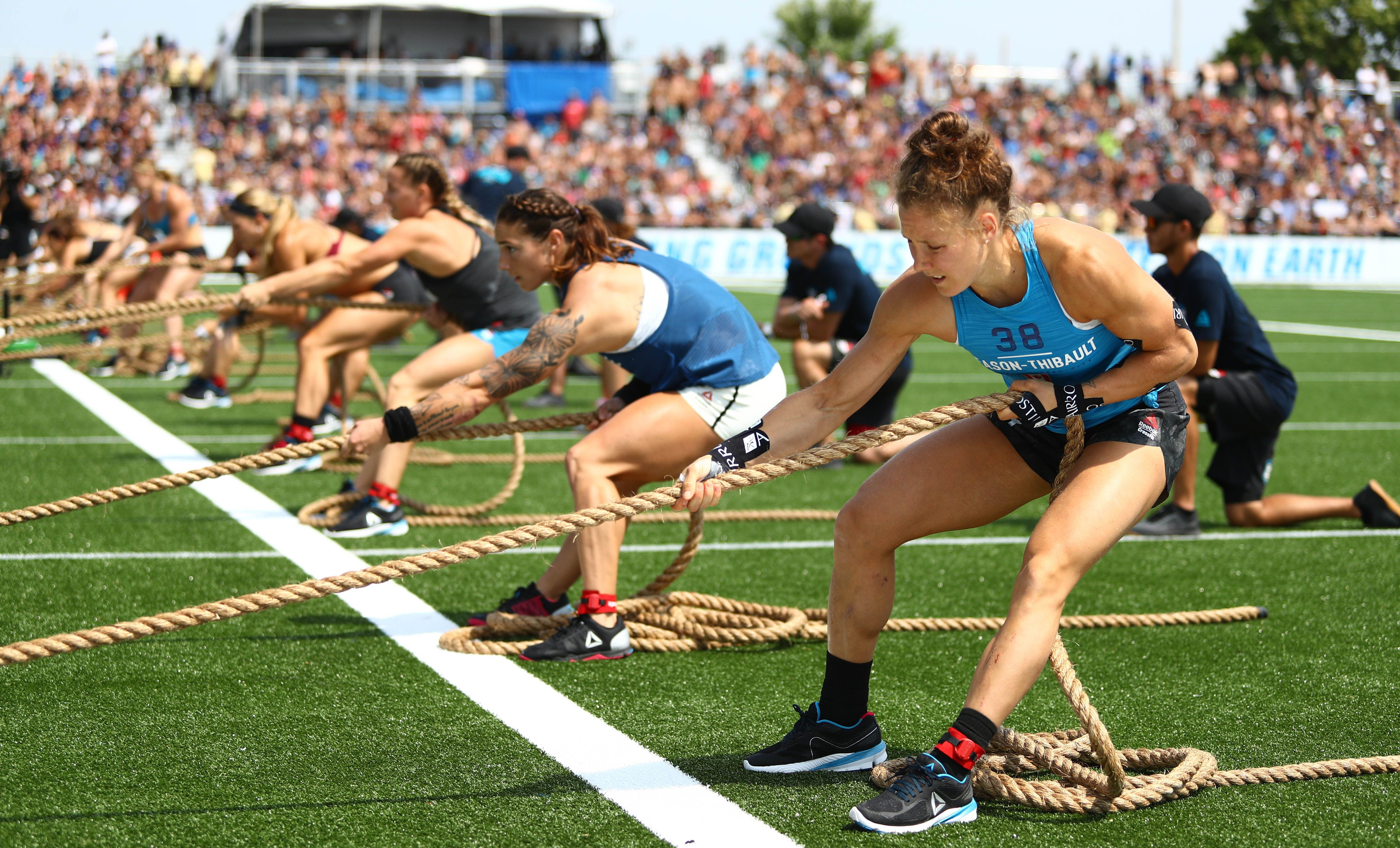 Crossfit Games 2019 5 Of The Best Female Athletes To Watch Crossfit, forging elite fitness, 3.2.1.go!, fittest on earth and sport of fitness are trademarks of crossfit, llc. men s health