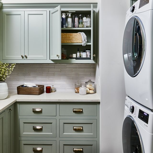 Laundry room, Room, Furniture, Cabinetry, Countertop, Major appliance, Kitchen, Laundry, Property, Shelf,