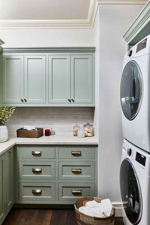 Laundry room, Room, Cabinetry, Furniture, Countertop, Major appliance, Property, Kitchen, Laundry, Floor,