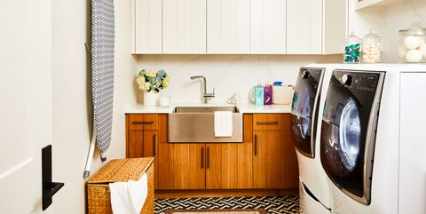 Room, Laundry room, Furniture, Property, Interior design, Cabinetry, Sink, Floor, Kitchen, Building,