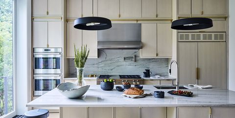 Countertop, Kitchen, Room, Furniture, Cabinetry, Interior design, Home, Ceiling, House, Kitchen stove,