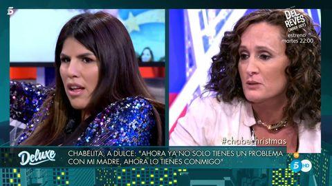 Chabelita Pantoja y Dulce, Chabelita bronca Dulce, Chabelita estalla dulce, Sábado Deluxe, Deluxe