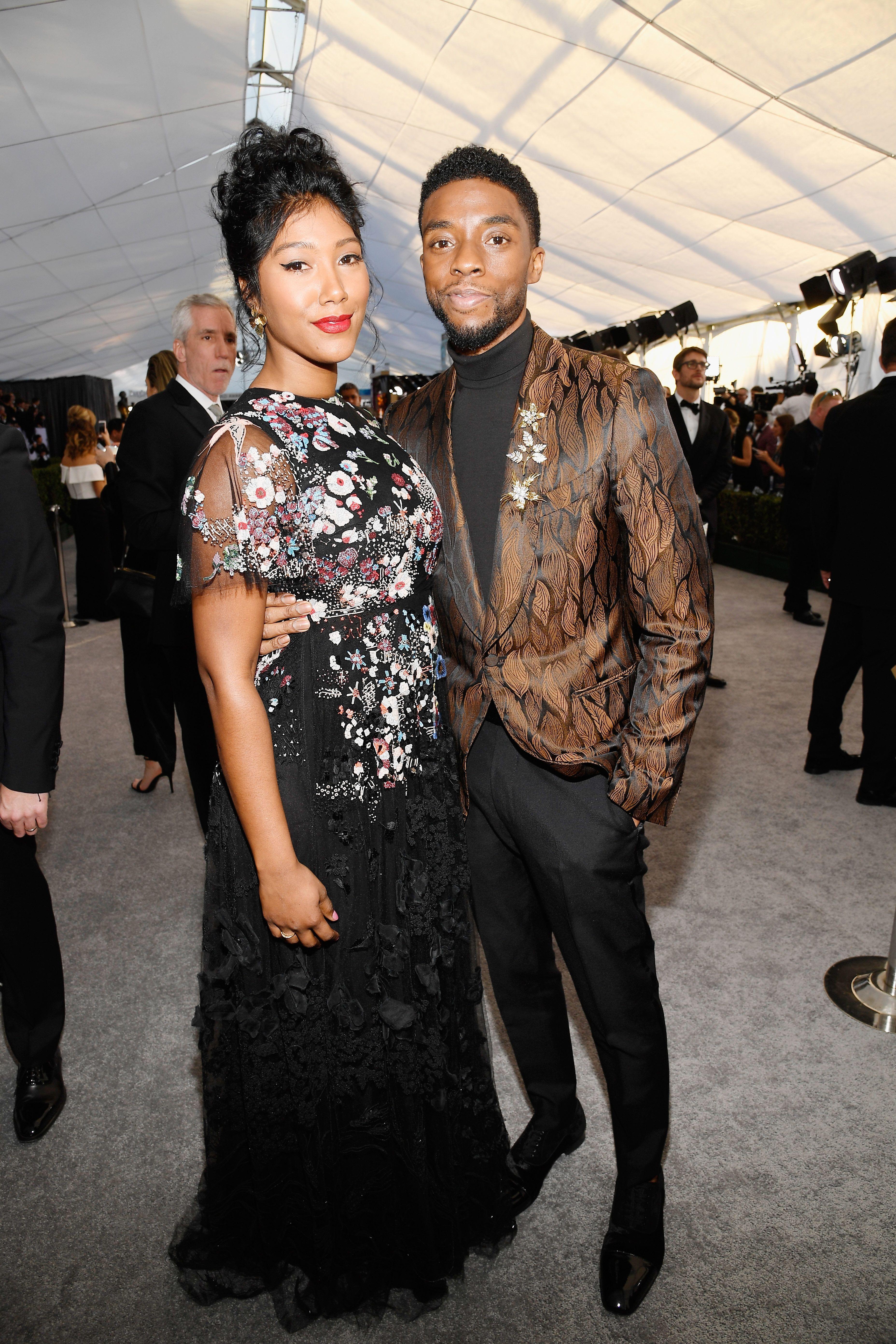 Who Is Chadwick Boseman Dating Meet Girlfriend Simone Ledward