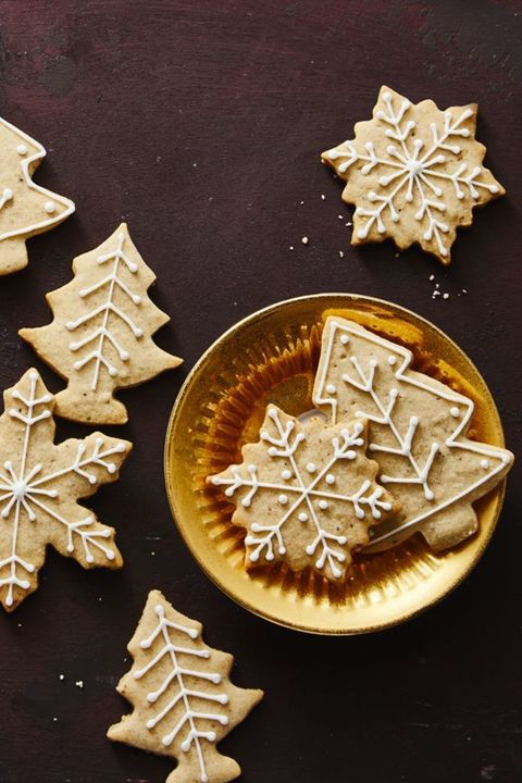 chai tree and snowflake cookies