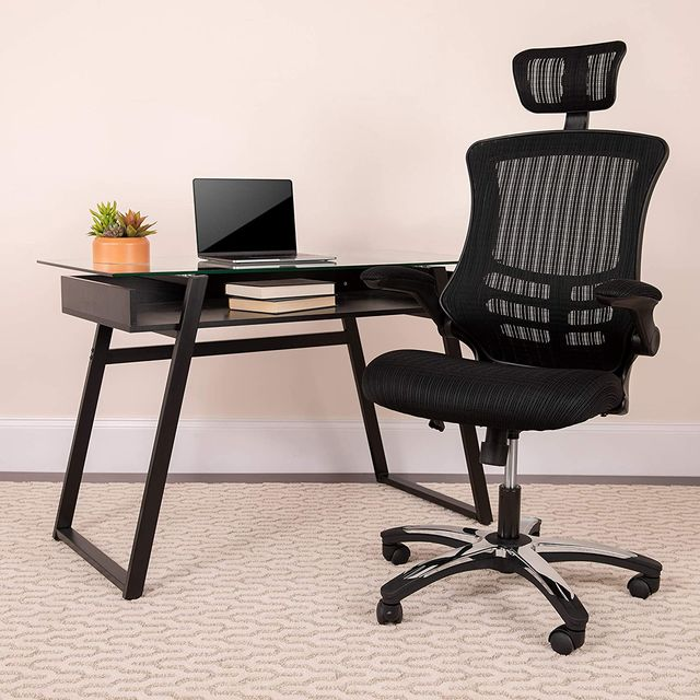 black office chair with headrest