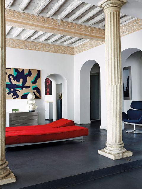 Column, Building, Property, Interior design, Room, Architecture, Ceiling, Furniture, Arch, House,