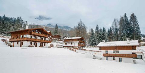 Snow, Winter, Property, Home, Hill station, House, Tree, Sky, Freezing, Ski resort,