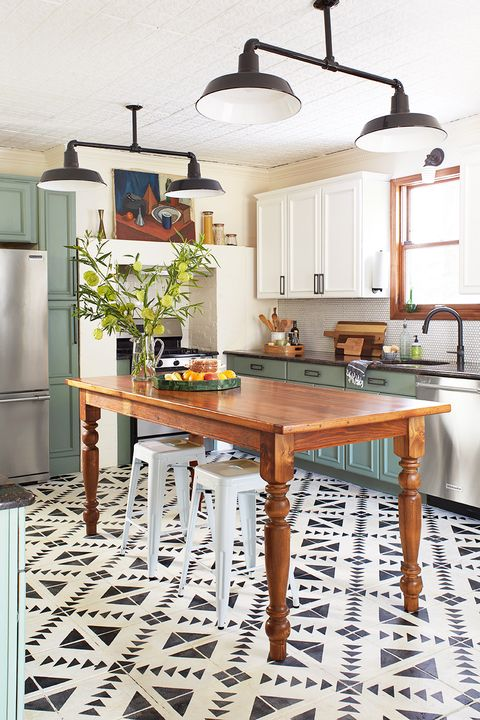kitchen with chalk paint on cabinets