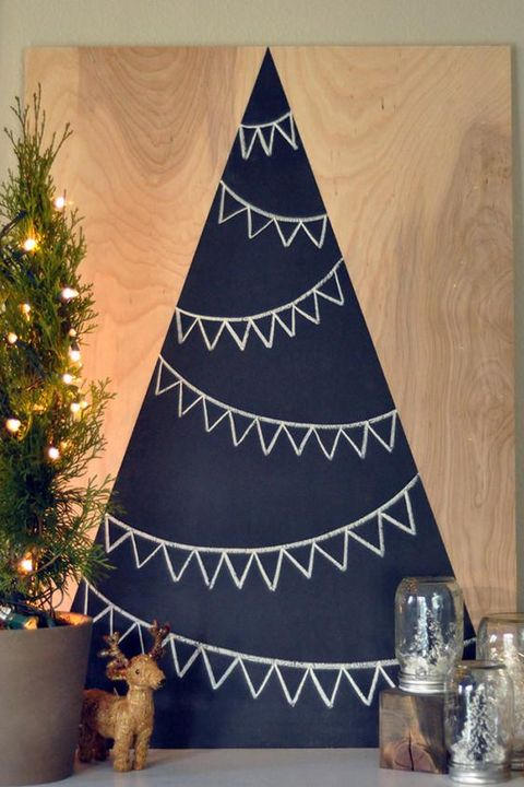 chalkboard alternative christmas tree