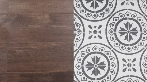 How To Stencil Wooden Or Concrete Floors Painting Tile Floors