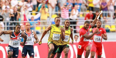 Men's 4 x 100 relay at 2013 world championships