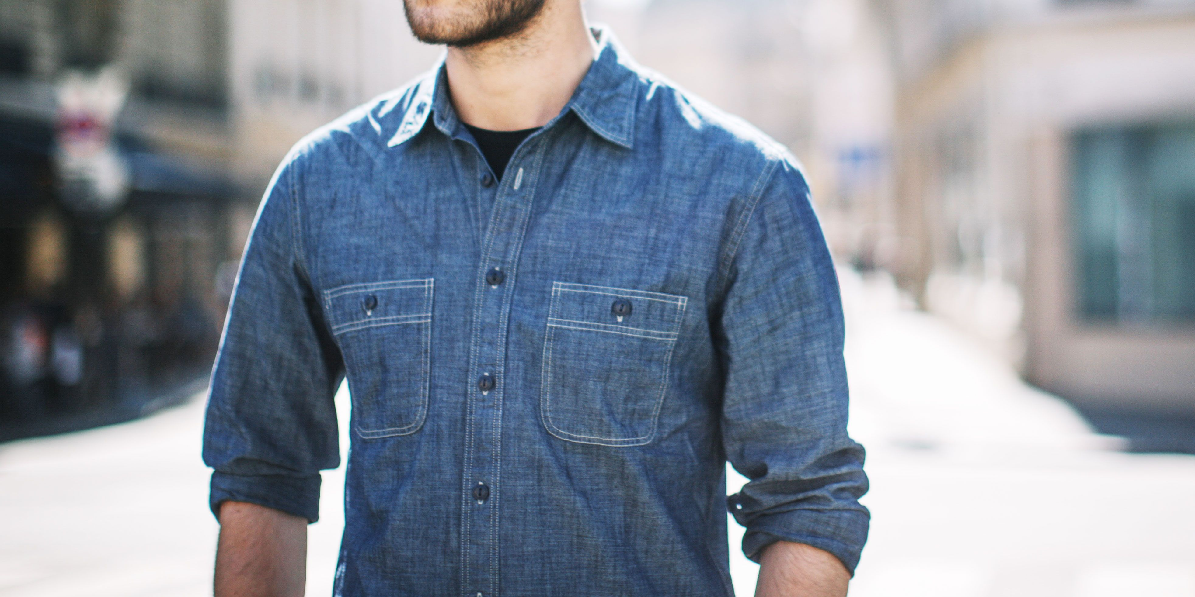 17e8406f6 14 Chambray Shirts to Wear this Spring - Best Shirts for Men