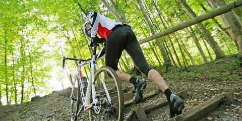 cyclocross cyclist chamois climbing