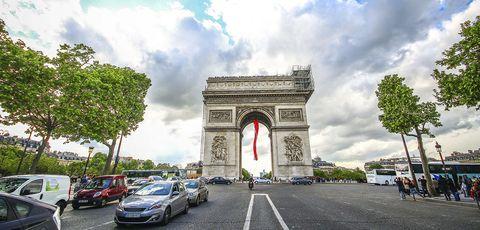 Paris, France - May 09, 2014 - Arc de Triomphe