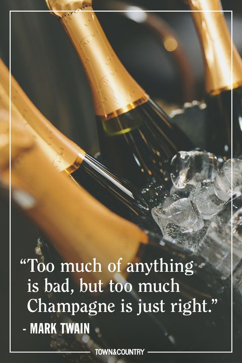 mark twain champagne quote