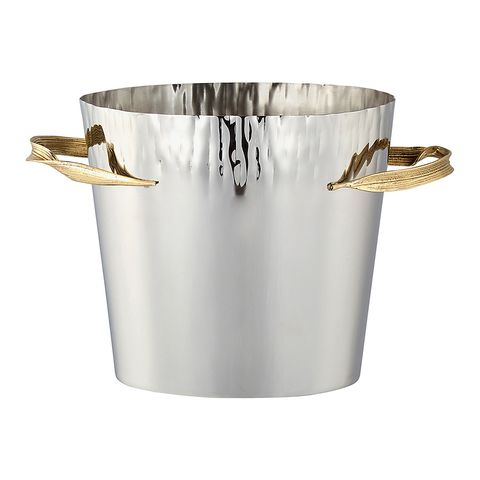 Bucket, Metal, Beige, Stock pot, Brass, Champagne,