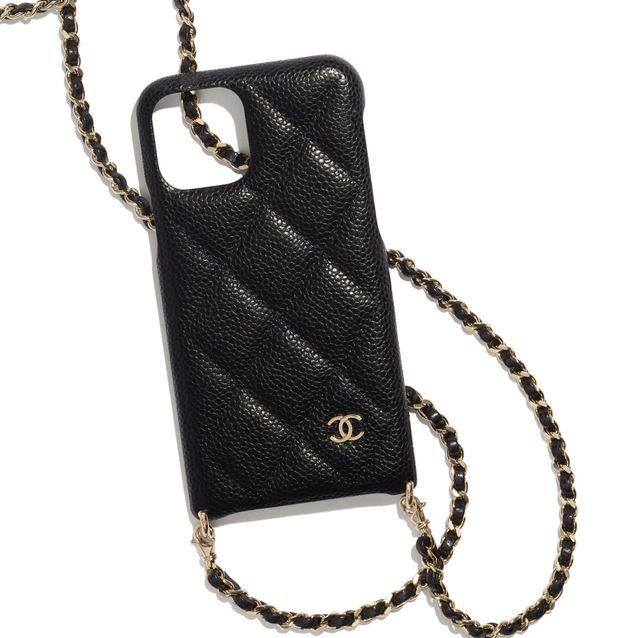 香奈兒chanel黑色鏈帶手機殼、口紅包