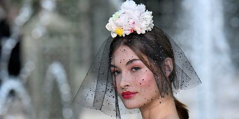 Chanel Couture flower veils