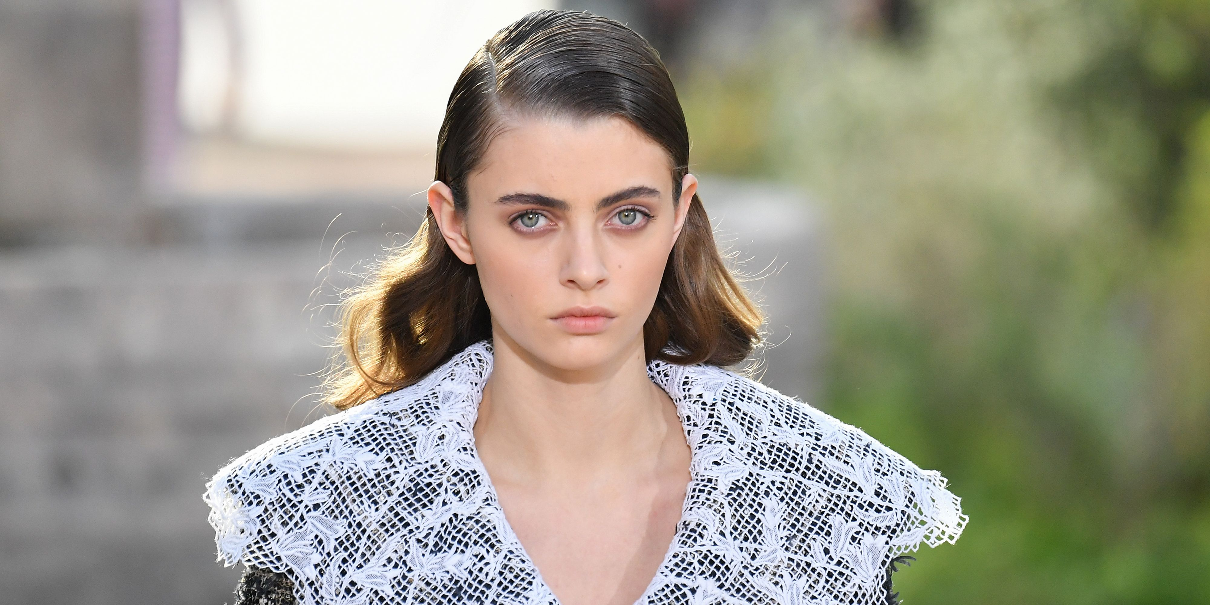 Slicked-back hair is back according to the Chanel couture show