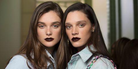 Chanel dark lipstick Cruise Show