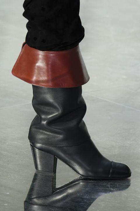 Footwear, Boot, Shoe, Red, Riding boot, High heels, Joint, Leg, Human leg, Knee-high boot,