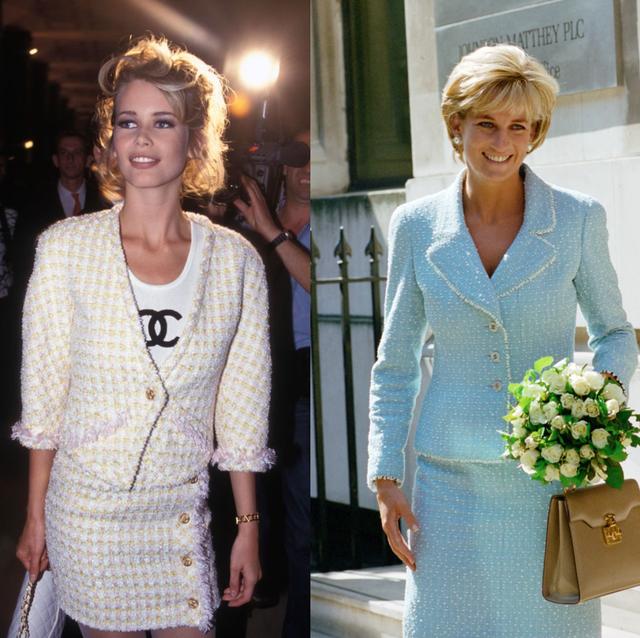 het iconische chanel bouclé jasje gedragen door beroemdheden