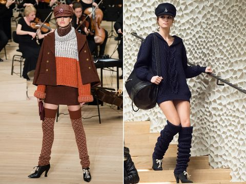 Leg warmers on the Chanel catwalk