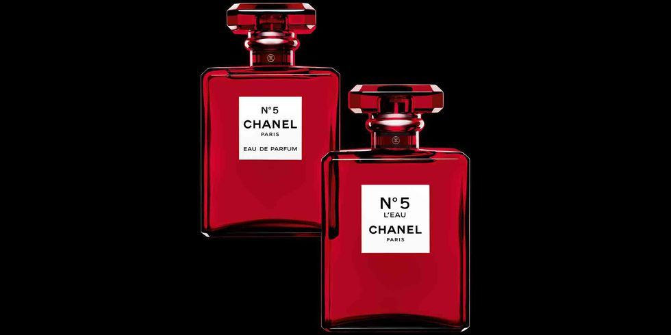 Chanel No. 5 limited-edition red bottle, Christmas 2018