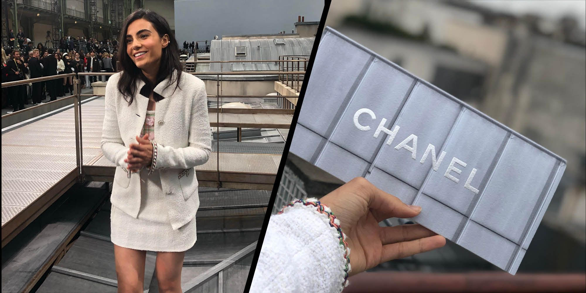 Inside the Chanel show with Aiysha Hart