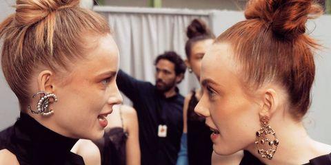Hair, Face, Hairstyle, Eyebrow, Nose, Ear, Beauty, Blond, Head, Skin,