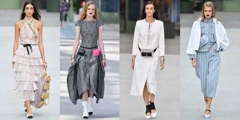 Fashion model, Fashion, Clothing, White, Street fashion, Runway, Footwear, Shoe, Jeans, Fashion show,