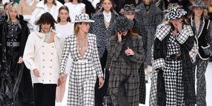 Chanel a/w 2019, laatste show chanel karl lagerfeld, modellen huilen