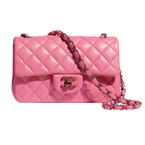 chanel roze  klassieke handtas
