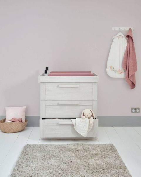 3 drawer white nursery changer