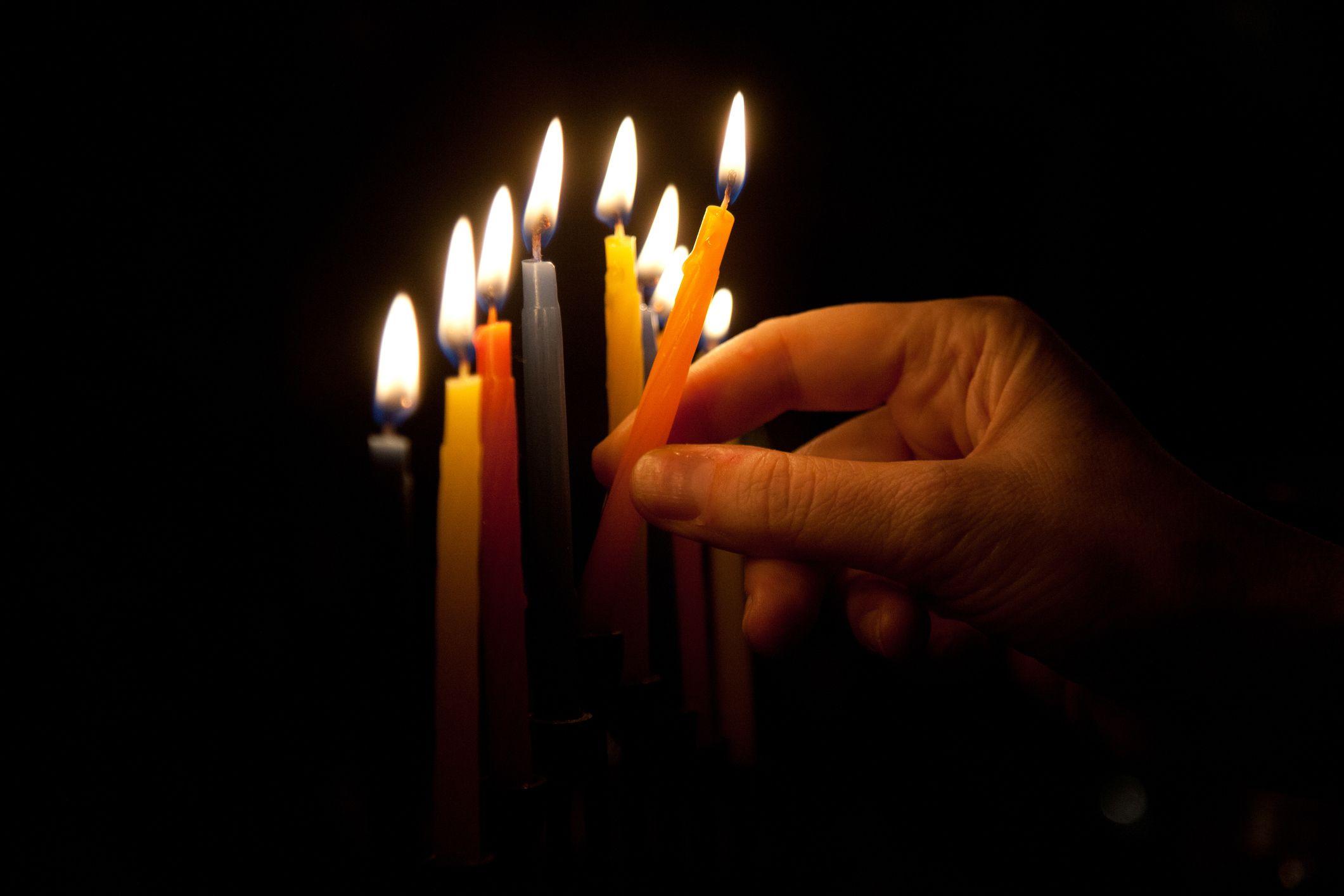 bougies de Hanoucca