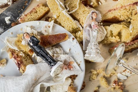 Chaos at a wedding celebration