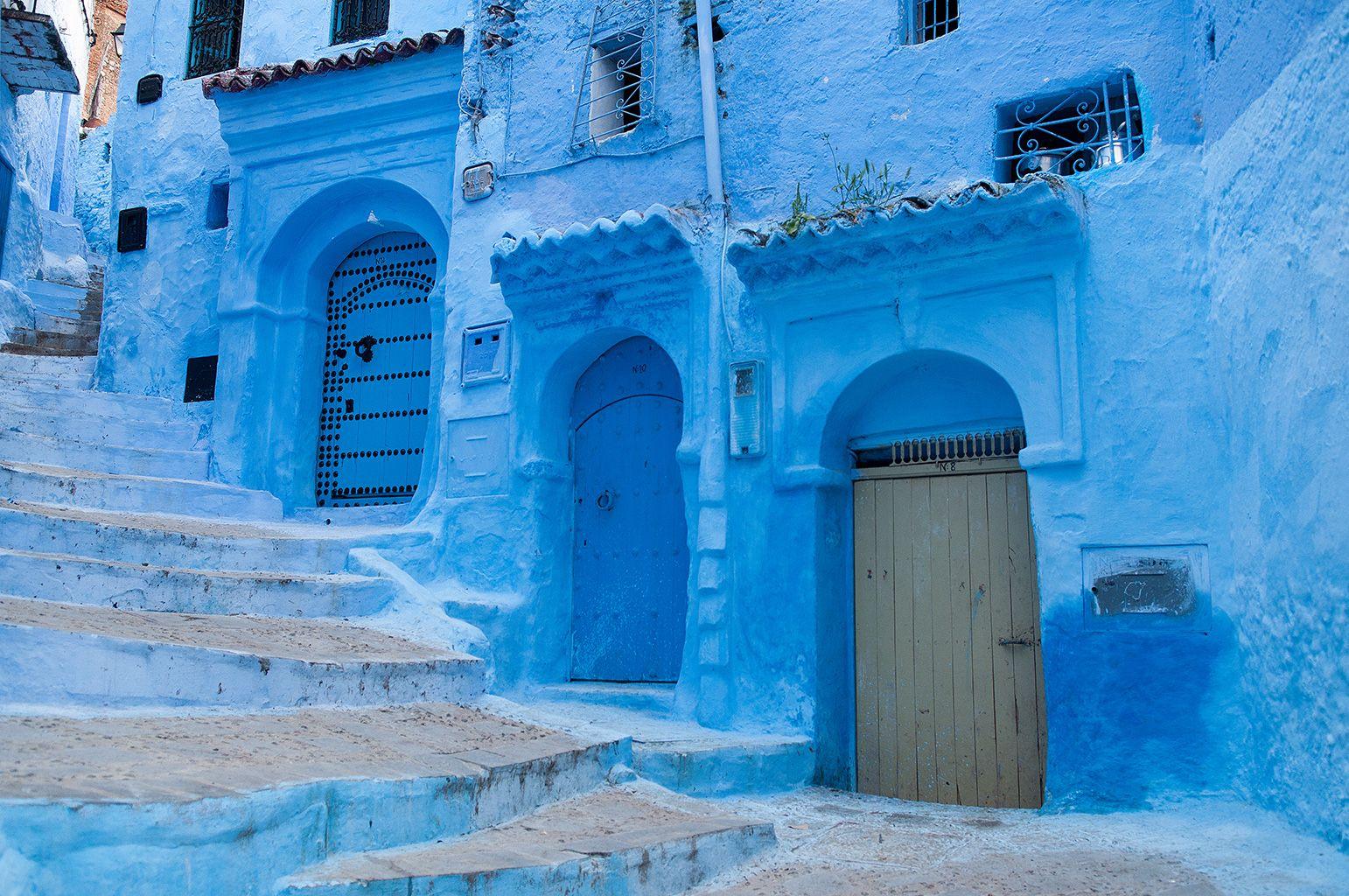 Chaouen, la ciudad azul de Marruecos.