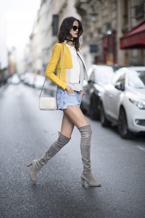 Cómo llevar chaqueta amarilla
