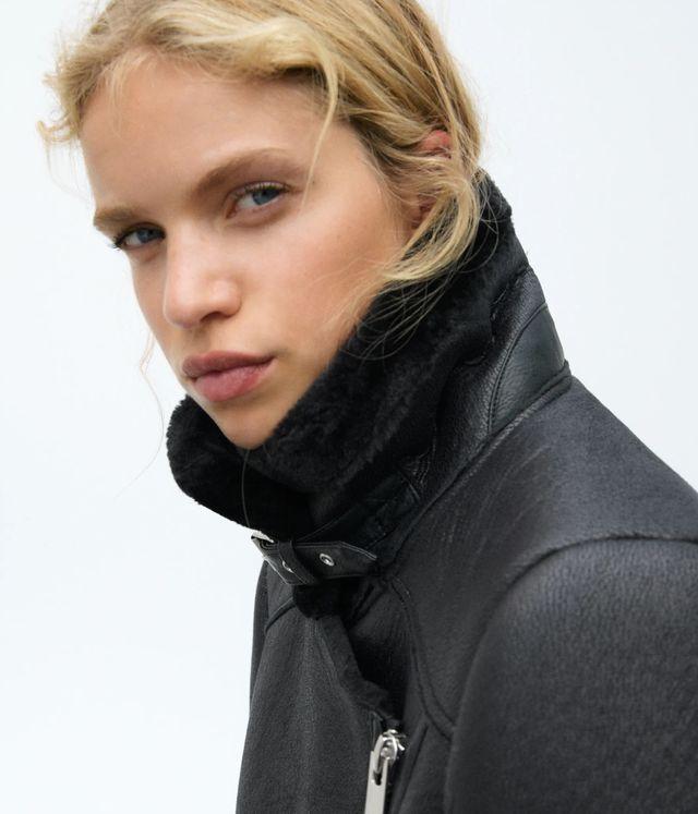 chaqueta negra doble faz