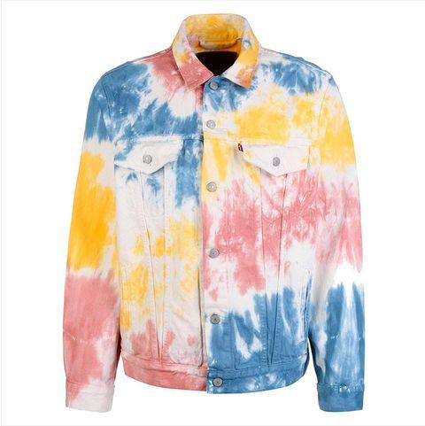 chaqueta tie dye de levis