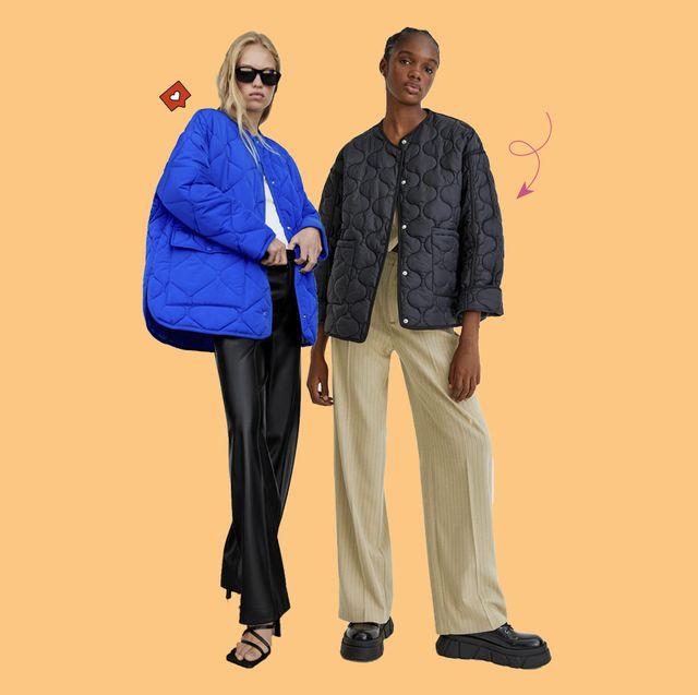 chaquetas acolchadas de stradivarius, pull and bear y zara que son tendencia este otoño
