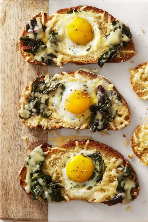 Chard and Gruyère Eggs in the Hole