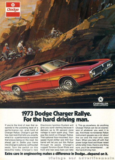 δείτε πώς ήταν η διαφήμιση πριν από 50 χρόνια με αυτήν τη διαφήμιση dodge charger