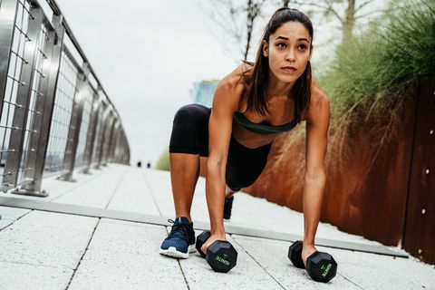 Photograph, Weights, Kettlebell, Beauty, Model, Exercise equipment, Physical fitness, Photo shoot, Shoulder, Fashion,