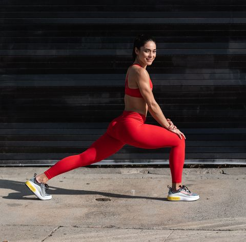 Red, Lunge, Running, Leg, Kung fu, Photography, Physical fitness, Recreation, Muscle, Exercise,