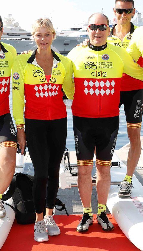 Charlene de Mónaco, carrera benéfica en bici