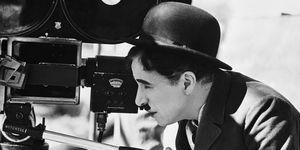 Charlie Chaplin Behind Movie Camera