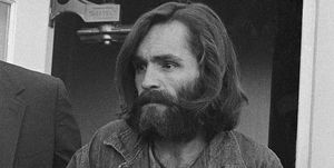 Charles Manson Arriving at Court in Handcuffs in Independence, CA.